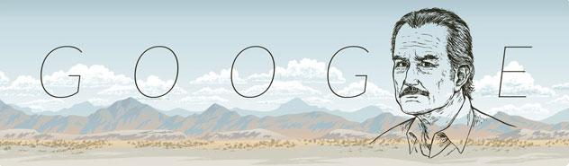 Google Celebra a Carlos Fuentes en el Google Doodle