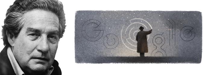 Hoy el Google Doodle celebra los 100 años de Octavio Paz.
